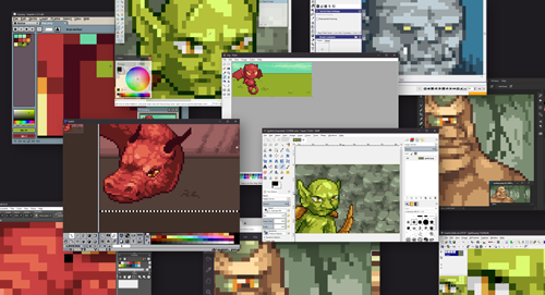 There are lots of pixel art creation tools.