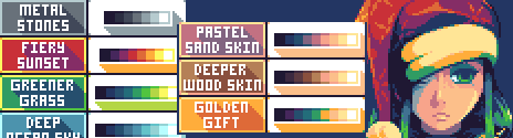 Palette usage example by Fleja.