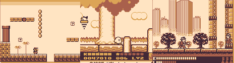Screenshots from various GameBoy games.