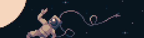 Astronaut in his #spacesuit drifting in space for @Pixel_Dailies by Skyborg.